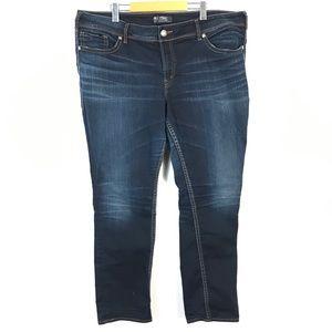 Silver suki mid straight jeans size 22x32